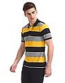 Ruf & Tuf Short Sleeve Striped Polo Shirt