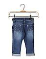Donuts Girls Appliqued Washed Jeans