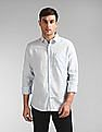 GAP Men Blue Long Sleeve Linen Shirt