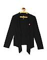 U.S. Polo Assn. Kids Girls Long Sleeve Solid Shrug