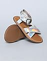 GAP Baby Patent Cross Strap Sandals