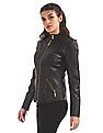 EdHardy Women Stand Collar Quilted Jacket