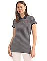U.S. Polo Assn. Women Regular Fit Printed Polo Shirt