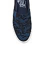 Flying Machine Camouflage Canvas Slip On Shoes