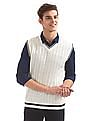 Flying Machine Cable Knit Sleeveless Sweater