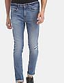 GAP Blue Skinny Fit Distressed Jeans