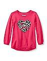 The Children's Place Toddler Girl Leopard Patterned High-Low Sweater