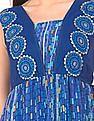 Bronz Combination Print Maxi Dress