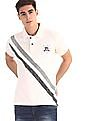 U.S. Polo Assn. Denim Co. White Diagonal Stripe Pique Polo Shirt