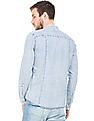Ed Hardy Slim Fit Washed Chambray Shirt
