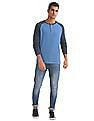 Aeropostale Regular Fit Raglan Henley T-Shirt