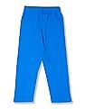 Cherokee Boys Ribbed Waist Solid Track Pants
