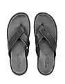 U.S. Polo Assn. Crossover V-Strap Leather Sandals