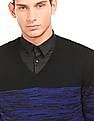 Arrow Newyork Colour Block V-Neck Sweater