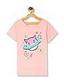 The Children's Place Pink Girls Round Neck Sequinned Top
