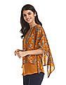 Cherokee Yellow Printed Layered Top