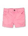 The Children's Place Toddler Girl Crochet Trim Woven Shorts