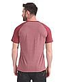 Cherokee Heathered Raglan Sleeve Henley T-Shirt