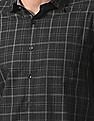 True Blue Slim Fit Patterned Checked Shirt