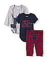 The Children's Place Baby Bodysuit And Knit Pants Three Piece Set