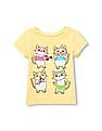 The Children's Place Toddler Girl Short Sleeve Sassy Cats Graphic Tee