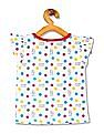 Colt Girls Flutter Sleeve Polka Print Top